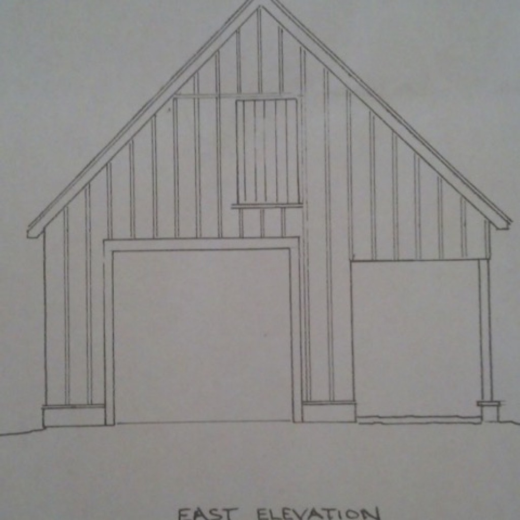 Barn - East elevation